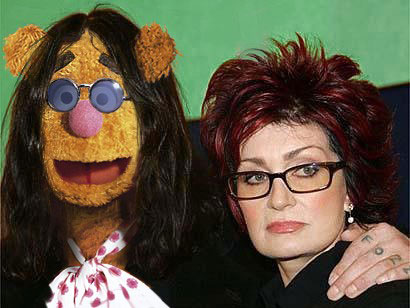 sharon osbourne and fuzzy bear