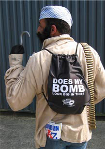 Does my bomb look big in this on back of ruck sack